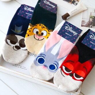 正版動物方城市大臉造型短襪 兔子 茱蒂 狐狸 尼克 洪金豹 樹懶 襪子 造型襪 流行襪 Zootopia 韓國製【B062590】
