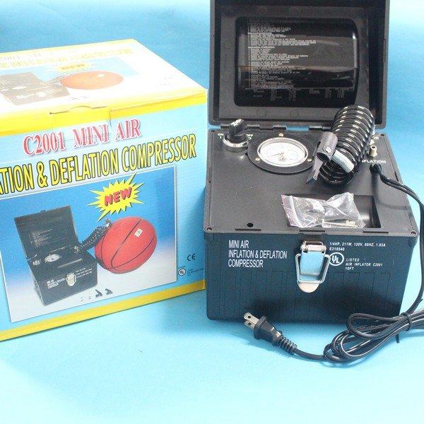 籃球充氣機 電動打氣機 電動充氣泵 110v電壓 MIT製(可充氣及抽收氣)/一台入{促4500}