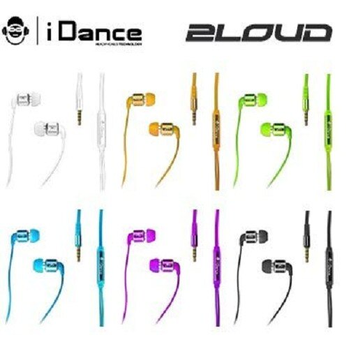 【iDANCE】 2LOUD 高聲系列 耳塞式耳機 入耳式 人體工學貼合 紫/黃 六色可選