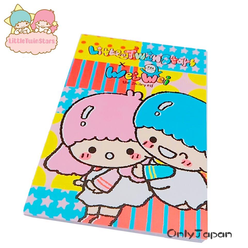 【真愛日本】18011700001 便條本S-Q版TS 三麗鷗 kikilala 雙子星 便條紙 信紙 memo紙