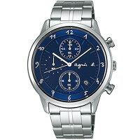 agnès b.眼鏡推薦到agnes b VD57-00A0B(BM3006J1)法式時尚計時腕錶/藍面40mm就在大高雄鐘錶城推薦agnès b.眼鏡