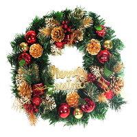 幫家裡聖誕佈置裝飾推薦聖誕樹及聖誕花圈到14吋豪華高級綠色聖誕花圈(紅金色系)(台灣手工組裝) YS-GW14001 聖誕佈置裝飾推薦就在摩達客推薦幫家裡聖誕佈置裝飾