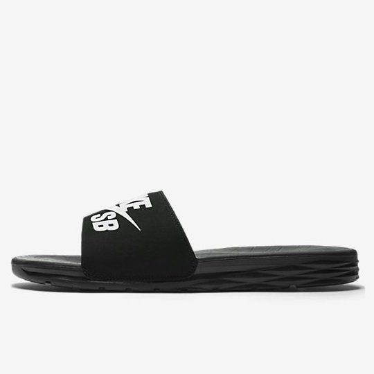 NIKE SB BENASSI SOLARSOFT 男鞋 女鞋 拖鞋 軟墊 休閒 黑 白 【運動世界】 840067-001