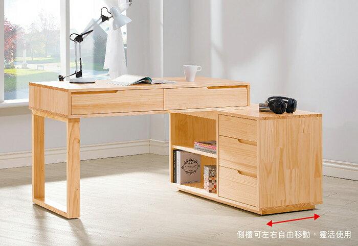~尚品傢俱~HY~A465~05 羅本北歐全實木4尺 書桌
