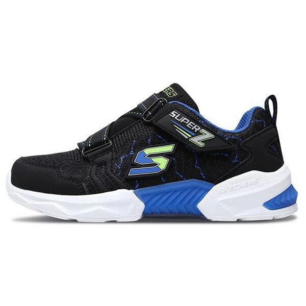 Shoestw【97842LBBLM】SKECHERS TECHTRONIX 中童鞋 運動鞋 慢跑鞋 記憶鞋墊 黑藍綠 黏帶 0