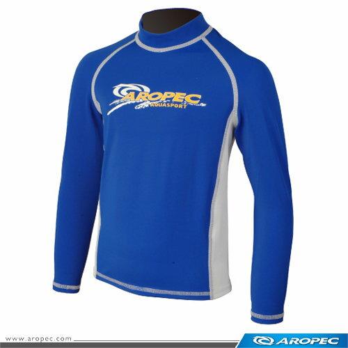 Aropec 兒童游泳 防曬衣 水母衣 寶石藍白 ;長袖泳衣;蝴蝶魚戶外