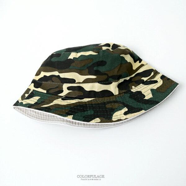 漁夫帽潮流迷彩休閒漁夫帽【NHD6】柒彩年代