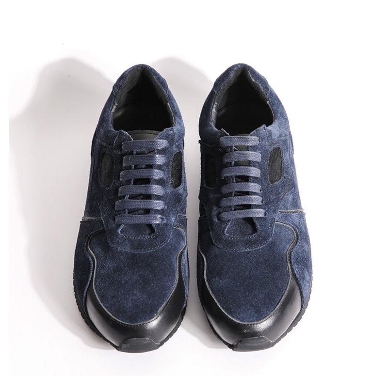 FINDSENSE MD 日系 高品質 時尚 潮 男 馬毛設計 高絲光 綁帶 低跟休閒鞋 板鞋