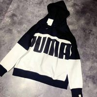 PUMA運動品牌推薦PUMA運動鞋/慢跑鞋/外套推薦到PUMA 連帽純棉長袖T恤 黑白 XL