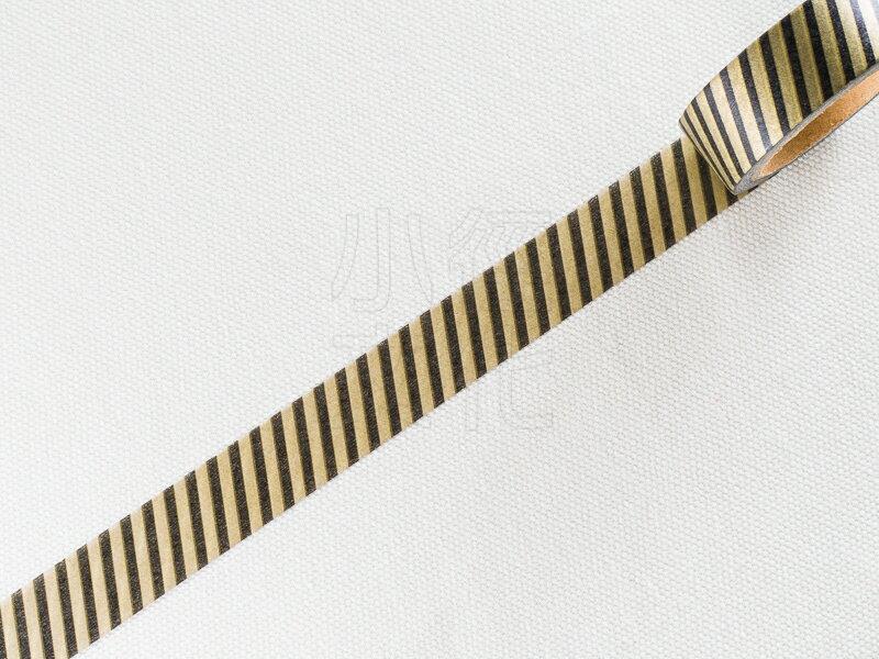 *小徑文化*日本進口和紙膠帶 Word carft系列 - 咖色斜紋 ( W02-MK-T0008 )