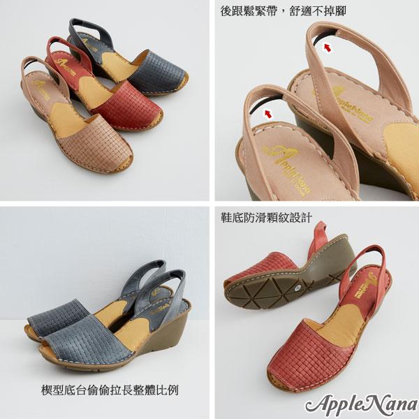 AppleNana。西班牙風情編織印刷真皮氣墊楔型鞋【QT15221380】蘋果奈奈 1