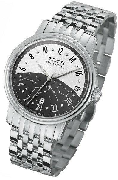 epos 愛寶時 3390.302.20.38.30 情感系列黑夜星雲機械腕錶/黑白面41mm
