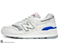 New Balance 美國慢跑鞋/跑步鞋推薦[43% OFF] 2017 最新 MADE IN USA 美國製 NEW BALANCE M997CHP 白 白藍紅 皮革 網布 ENCAP 中底 美製 余文樂 (M997CHP) !