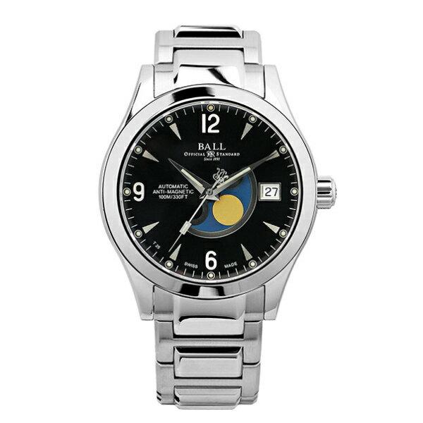 BALL 波爾錶NM2082C-SJ-BK Engineer II經典月象盈虧機械腕錶/黑面40mm
