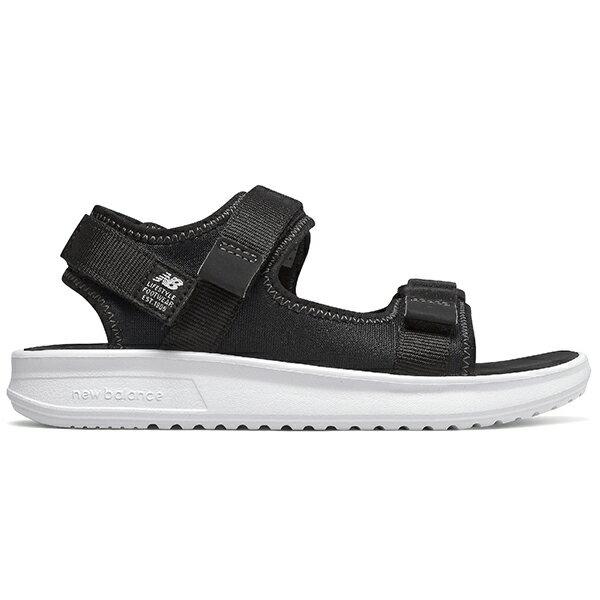 鞋殿 5折【YH750BK】NEW BALANCE NB750 涼鞋 涼拖鞋 運動涼鞋 童鞋 中童鞋 黏帶 黑白 大人女生可穿