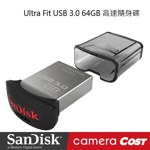 SanDisk Ultra Fit CZ43 USB 3.0 64GB 高速隨身碟 公司貨  原廠保固5年 - 限時優惠好康折扣