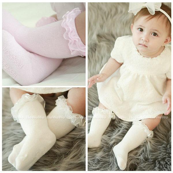 童襪 寶寶襪 蕾絲花邊中筒襪 嬰兒襪 0-4歲 CA1771 好娃娃