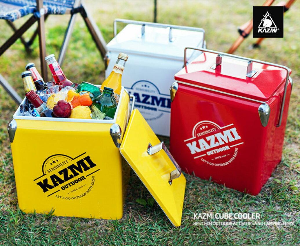 【露營趣】中和 KAZMI K6T3A013 酷樂彩色小冰箱13L 白/黃/紅色 保冰桶 冰箱 行動冰箱 手提式冰桶