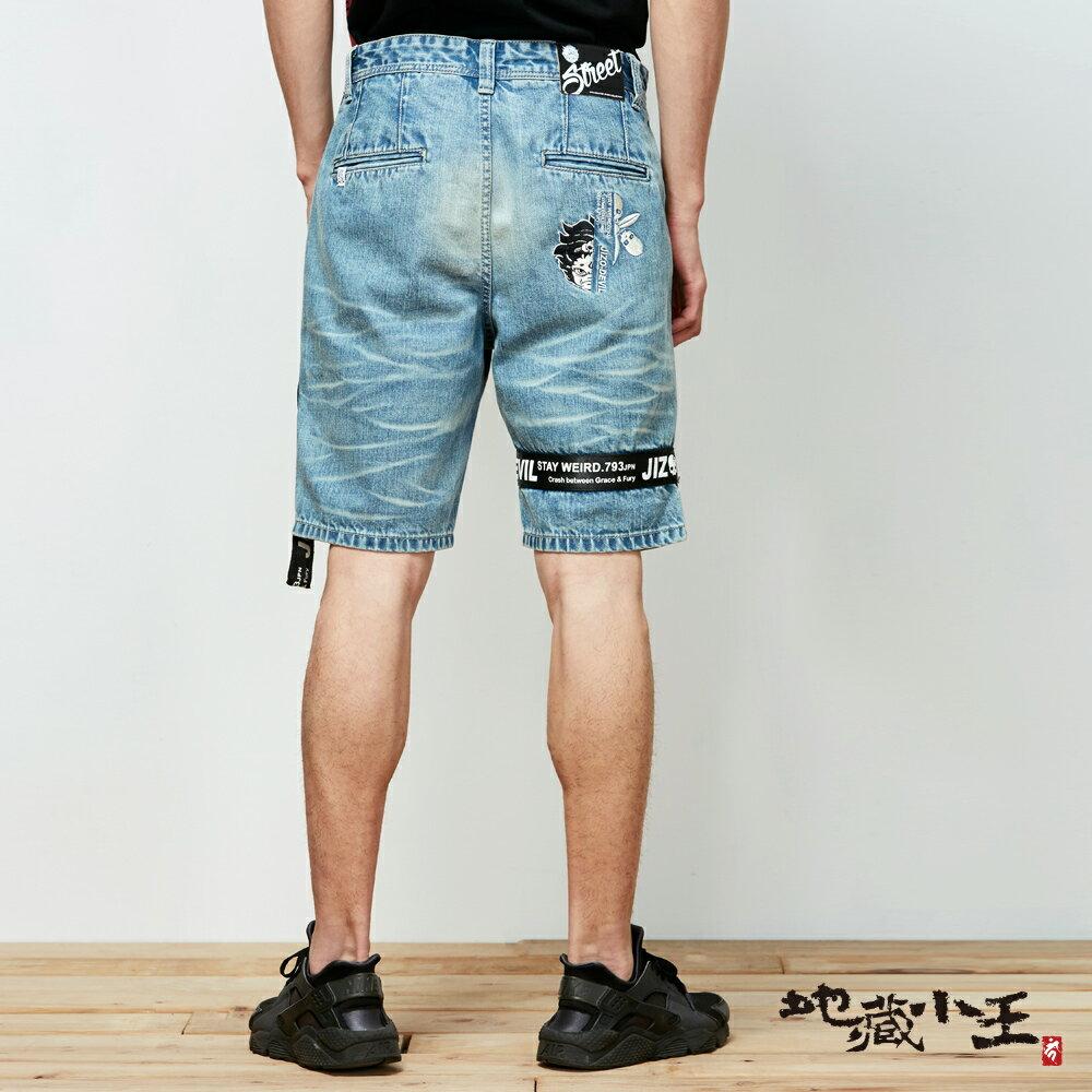 【春夏新品】織帶牛仔潮流風格短褲 - BLUE WAY 地藏小王 2