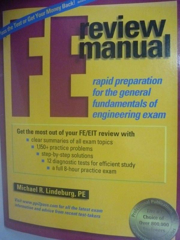 【書寶二手書T7/進修考試_ZBE】F E Review Manual: Rapid