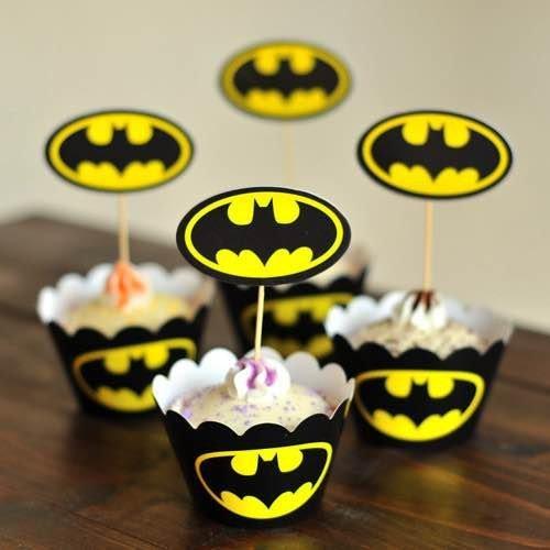 =優生活=烘焙包裝紙杯蛋糕 蛋糕裝飾 插牌圍邊+插牌裝飾 派對用品 兒童生日 彌月蛋糕 收綖蛋糕【蝙蝠俠】