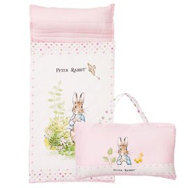 【淘氣寶寶】奇哥 Peter Rabbit 花園比得兔簡約風睡袋-粉色【睡墊×1、被子×1、枕芯×1】