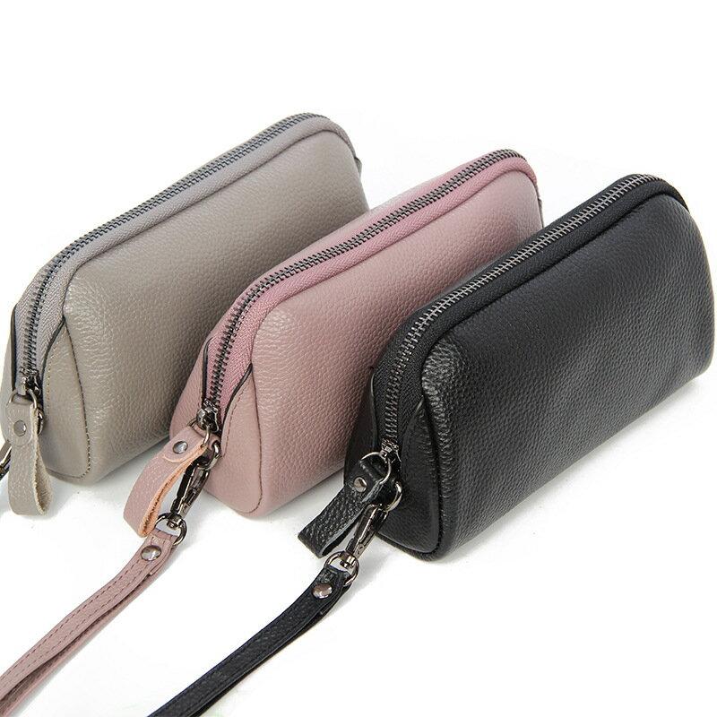 手拿包真皮錢包-經典簡約純色牛皮女包包5色73wz42【獨家進口】【米蘭精品】 1