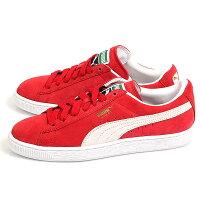 情侶鞋推薦到【PUMA】Suede Classic+ 籃球鞋 運動鞋 休閒鞋 情侶鞋 男女鞋 紅色 352634-05就在動力城市推薦情侶鞋