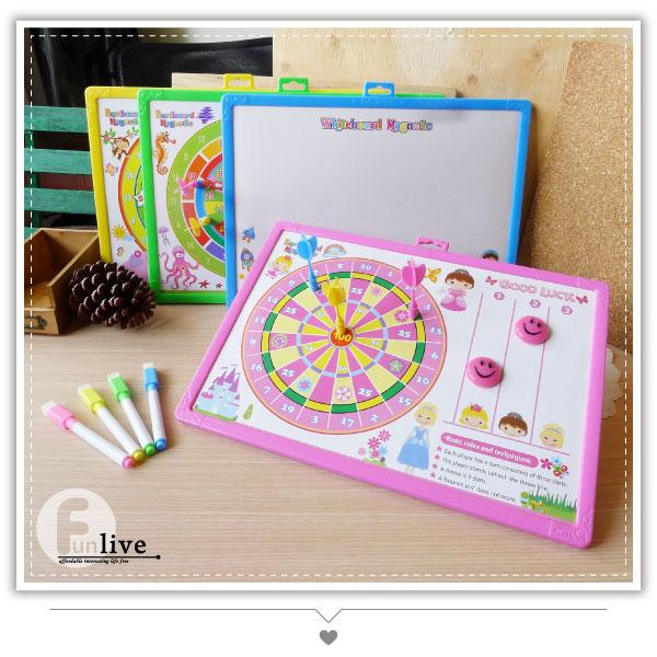 【aife life】趣味標靶大白板/兒童單面白板/留言板/寫字板/塗鴉板/繪畫板/磁性飛鏢白板