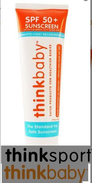 THINKBABY Safe Sunscreen SPF 50+ (3oz) 大人嬰幼兒專用天然防曬乳液 【橘】