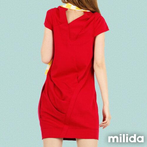 【Milida,全店七折免運】-春夏商品-V領款-修身氣質洋裝 7