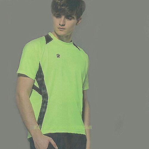 MILD STAR 男女吸濕排汗短T恤-螢綠#AS600504 - 限時優惠好康折扣