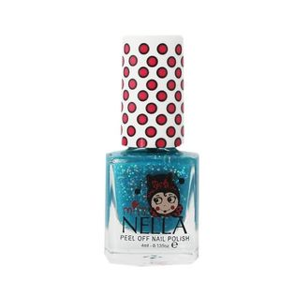 英國【MissNella】妮娜小姐水性可撕式安全指甲油4ml-亮片深海藍MN15兒童指甲油