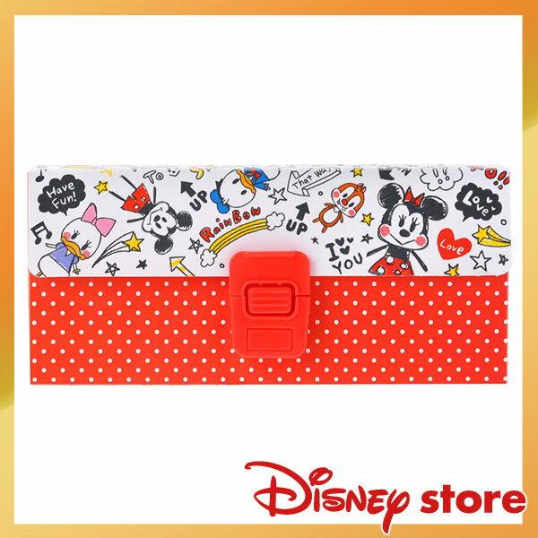 【真愛日本】15062800006 限定DN筆盒-塗鴉全人物紅 迪士尼專賣店限定 文具 收納盒 正品 限量 預購