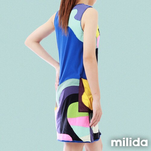 【Milida,全店七折免運】無袖大口袋可愛洋裝 5
