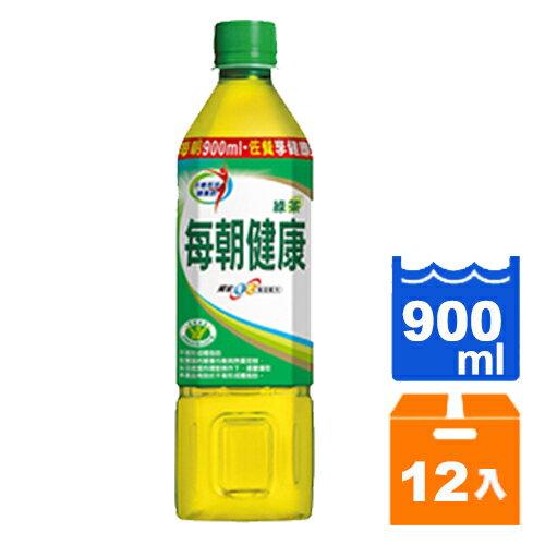 【免運】御茶園 每朝健康 綠茶 無糖 900ml (12入)/箱