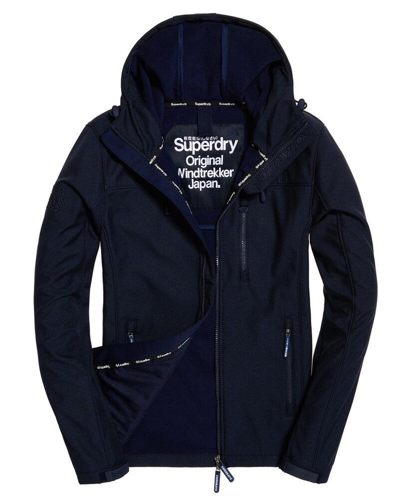 極度乾燥 Superdry SD-Windtrekker 連帽防風夾克薄款防風外套 防潑水機能衣 午夜海軍藍/深藍色