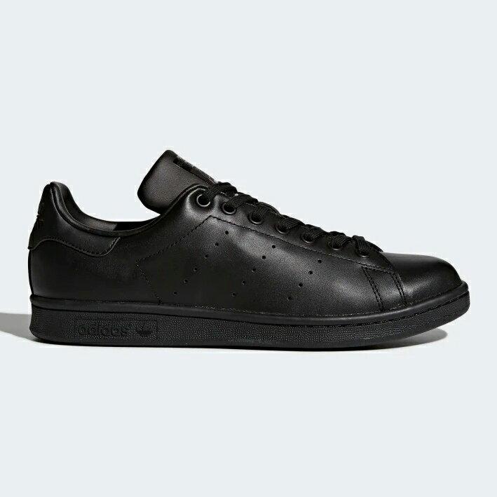 Adidas STAN SMITH 男鞋 女鞋 慢跑 休閒 經典 皮革 基本款 全黑【運動世界】 M20327