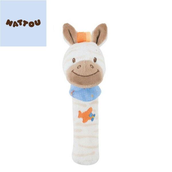 *babygo*比利時Nattou-絨毛造型柱型bibi玩偶【亞瑟】