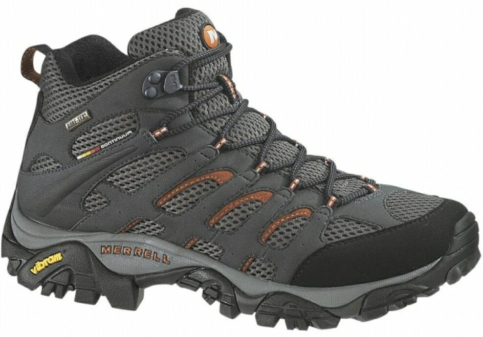 零碼特價 Merrell 防水透氣越野鞋/健行鞋/登山鞋 Moab Mid GORE-TEX 男款 ML87313 灰