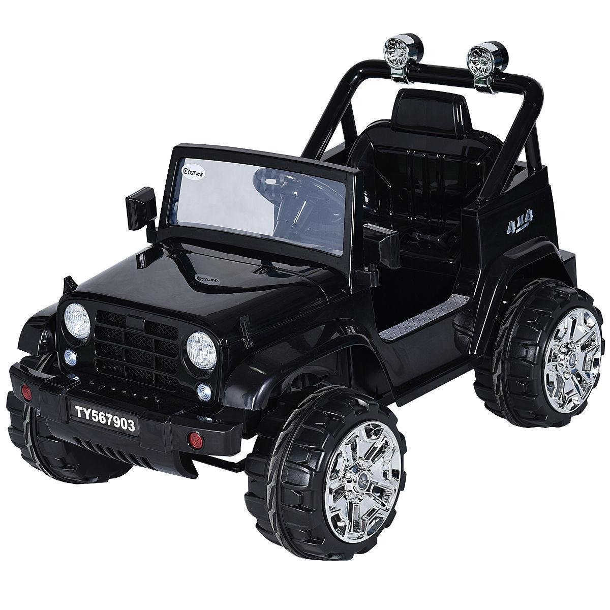c5c7d6b29779 Costway 12V Kids Ride on Truck Jeep Car RC Remote Control w/ LED Lights  Music