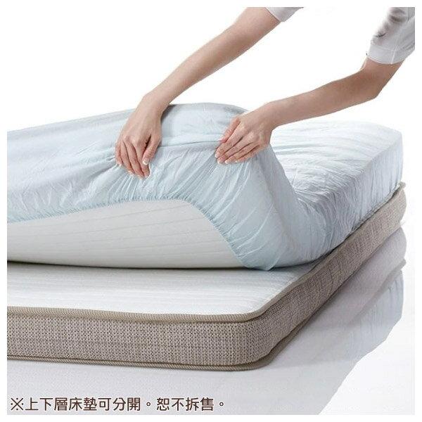 ◎獨立筒彈簧床 可拆式雙層床墊 N-SLEEP P2-CR 雙人加大 NITORI宜得利家居 4