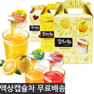 有樂町進口食品 韓國 Honey Citron Tea 膠囊 蜂蜜柚子茶/葡萄柚茶/蜂蜜紅棗茶/檸檬茶 一盒15顆(30g) 手提式禮盒 K180 8803217011256