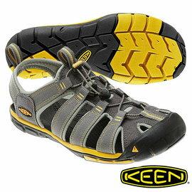 Keen Clearwater CNX 男 輕量護趾水陸兩用鞋 灰/黃 1009036