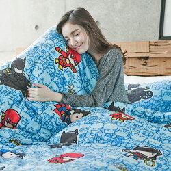 床包兩用毯組 / 雙人加大-暖呼呼搖粒絨【正義曙光】含兩件枕套 發熱保暖 戀家小舖 台灣製