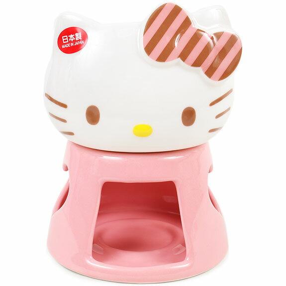 X射線【C806128】KT陶瓷造型巧克力鍋組 ,餐盤/餐碗/玻璃碗/陶瓷碗/交換禮物/療癒/下午茶/點心/kitty