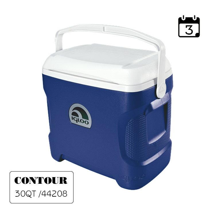 IgLoo CONTOUR系列30QT冰桶44642   藍色 城市綠洲專賣 (保鮮、保冷、美國製造、露營、釣魚) 1