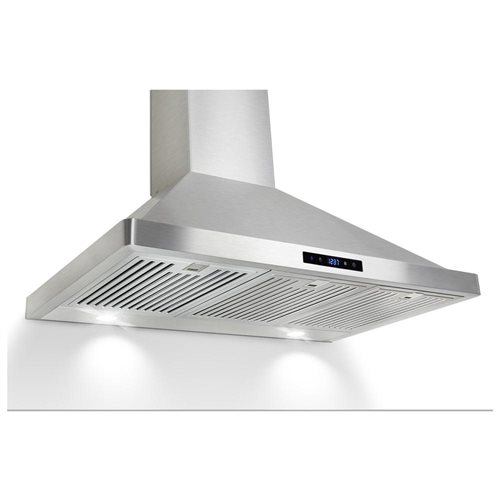 """AKDY 36"""" GVBI-36S Europe Style Stainless Steel Wall Range Hood Touch Control/W Baffle Filter 0"""