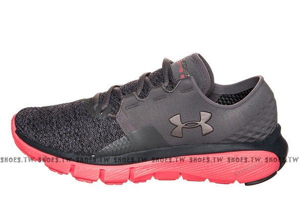 《下殺6折》Shoestw【1284486-040】UNDERARMOURSpeedFormFortis2TXTRUA慢跑鞋深灰桃紅女生