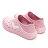 《2019新款》Shoestw【92U1SA03PK】PONY Enjoy 洞洞鞋 水鞋 海灘鞋 可踩跟 懶人拖 菱格紋 全粉紅 白V 男女尺寸都有 3
